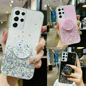 Phone Case For Samsung Galaxy S21 Plus,A12,S20 FE GLITTER TPU Shockproof Cover