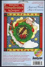ANGEL AND WREATH ~ COUNTED CROSS STITCH KIT - JANLYNN