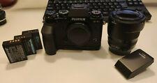 Fuji XT1 Body w/ Fuji Grip, Fuji 18-55mm MIJ, 3 Batteries, Godox Flash
