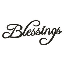 Blessings Wooden Sign Home Rustic Wall Art Christmas Home Decoration Black