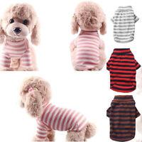 Cute Pet Dog Striped Apparel Vest Clothes Coat Cat Puppy Vest Summer T-shirt