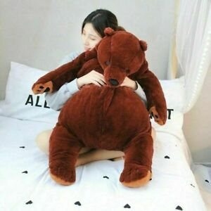 Dark Brown Teddy Bear Stuffed Animal Toys giant simulation DJUNGELSKOG bear toy