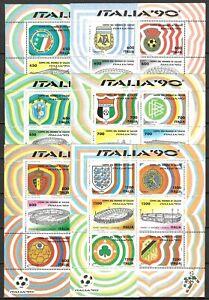 """ITALIA 1990 foglietti Coppa del Mondo di Calcio """"ITALIA '90"""" **"""