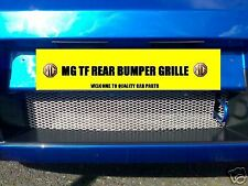 MG TF MGTF CHROME REAR BUMPER GRILLE MESH & INSTRUCTION