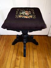 Antique Victorian Eastlake Swivel Piano Stool