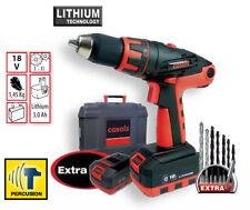 Casals CLIP3018K2 Perceuse / visseuse 18 V - 2 batterie 3,0 Ah Lithium