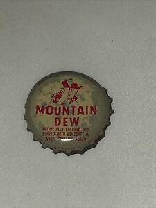Mountain Dew drink soda pop bottle cap Vintage Cork Collectible
