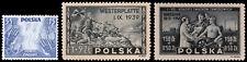 Poland Scott B34, B41, B42 (1939, 1945) Mint/Used H F-VF