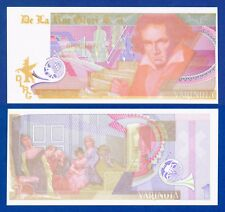 De La Rue Giori Varinota Beethoven Color Trial #5 - Specimen Test Note Unc