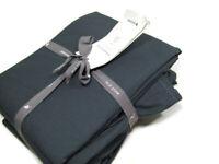 West Elm Charcoal Gray Washed Organic Cotton Stitch Full Sheet Set New