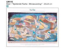 Poster Paul Klee Spielende Fische Carta Fotografica 60x45 Stampa di Qualità G018
