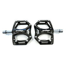 """Wellgo M194 Aluminum MTB Mountain Bike Bicycle Cycling 9/16"""" Pedals - Black"""