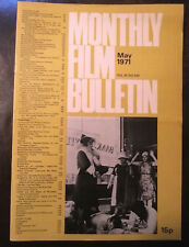 Monthly Film Bulletin May 1971 vintage issue BFI Valerie and Her Week of Wonders
