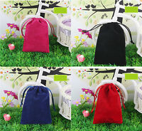 """10 pcs Large 7.5""""x10"""" Velvet Bags Jewelry Wedding Party Gift Drawstring Pouches"""