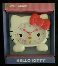 WALL CLOCK Set LOT 2 Hello Kitty Flower Bow PINK White Face Head Room Decor Girl