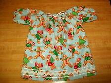 "Christmas Gingerbread Kids Nitey Nightgown for 15-18"" Cpk Cabbage Patch Kids"