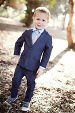 Fashion Wedding Page Boys Kids Tuxedos Custom 2 Piece Babys Toddlers Party Suits