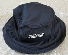 ae71ae812ea7ba 100% Palace Skateboards 2018 Mountain Shell Bucket Hat Black Small/Medium  S/M