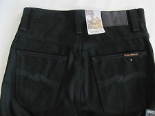 Nudie Jeans Slim Jim 100% Organic Cotton Dry Black NJ3777-Size 28 L34