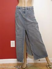 RALPH LAUREN POLO JEANS FADED BLUE MAXI ROUND PATCH POCKET DENIM SKIRT SZ 4