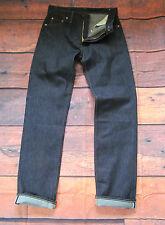 LEVIS Vintage Clothing LVC 1962 551z bleu foncé Redline Selvedge Jeans 34 W/33 L