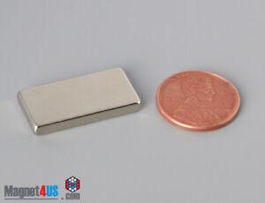 "2PCs  25.4x 12.7x3.1mm  1"" x1/2""x1/8"" N40 Rare Earth Neodymium Block Magnets"