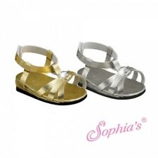 "Doll Clothes AG 18"" Sandals Gold Jeweled Sophia Made For American Girl Dolls"