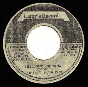 "JAH LAMY & JAH VINI-the light is shining on me   lamy'  7""   (hear)    reggae"