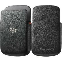 BlackBerry Leather Pocket Slip Case For BlackBerry Q10 - Black HDW-50702-001 NEW
