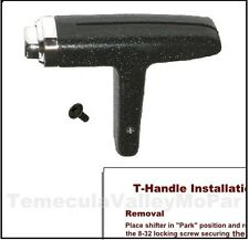 1971-1974 B and E-Body T Tee Handle Shifter with automatic transmission and cen