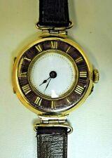 Antique 1912 9 Carat Gold and Enamel Ladies Watch.