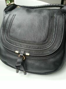 CHLOÈ MARCIE HOBO large,schwarz, Handtasche, Bag, Purse,