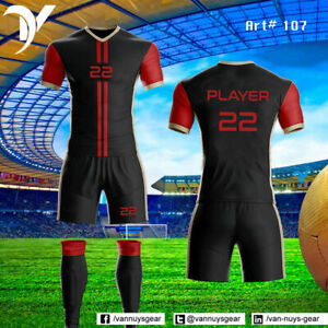 High Quality Soccer Uniforms kits Jersey Shorts with Socks $25 each set VANs 14