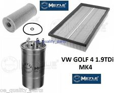 VW GOLF IV 4 MK4 BORA 1.9TDI OIL AIR FUEL FILTER FILTERS MEYLE SERVICE KIT