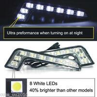 2x Car Waterproof Daytime Running Light 8LED DRL Fog Driving Daylight Head Lamp