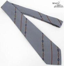 """VTG Bally Blue/Gray Striped 3.25"""" Wide Silk Tie *Italy*"""