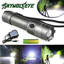8000 Lumens Tactical Police SWAT Heavy Duty 3W LED Rechargeable Flashlight Lamp