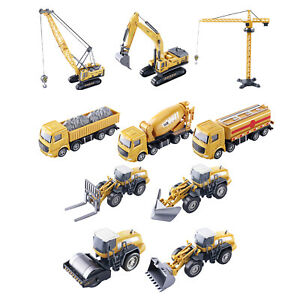 Alloy Construction Trucks Vehicles Toys Forklift Excavator 1:55 Scale Toy