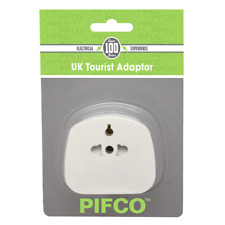 PIFCO Tourist Travel EU US to 3 Pin UK Power Plug Holiday Adaptor With Fuse 13A