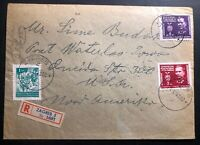 1946 Zagreb Yugoslavia Registered Censored Cover To Waterloo IA USA