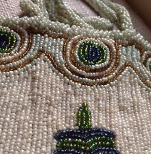 Antique Style Small Beaded Handbag - Accessories - Floral Pale Green, Colourful