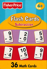 Flash Cards - Fisher Price  - Subtraction - Childrens - Ages 4+