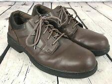 CAT Brown Leather Oil / Slip Resistant STEEL TOE Work Shoes Men's Size 12 M