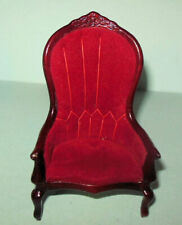 2 Victorian Arm Chairs #3696 Concord Museum Dollhouse Furniture Miniatures P3