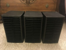Lot of 3 Access Quicdisc CD Storage Rack Black Hold 15 CD