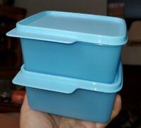 New TUPPERWARE Keep Tab Set SET OF 2 Blue 16 Oz FREE US SHIPPING BPA-Free