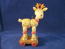 Hallmark 1977 Yesteryear' Tree Trimmer Reindeer Spool Marionette Ornament No Box