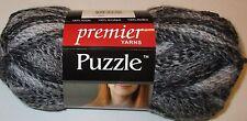 Premier Puzzle Yarn acrylic bulky #5 yarn SUDOKU black and gray self striping