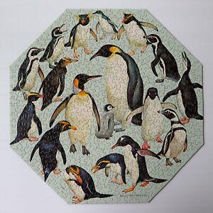 1970's Vintage COMPLETE Springbok Okta Puzzle PENGUINS Roger Peterson PZL 8025