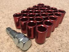 NEW RED JDM M12X1.5 ALLOY WHEEL KEY LUG NUTS HONDA MAZDA TOYOTA UK JAP P+P
